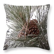 Cold Pine Throw Pillow