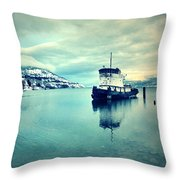 Cold Reflections Throw Pillow