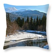 Cold River Bend Throw Pillow
