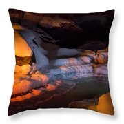 Cold River Candle Throw Pillow