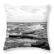 Cold Shore Throw Pillow