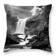 Cold Spring Morning At Kaaterskill Falls II Throw Pillow