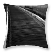 Cold Steel Throw Pillow