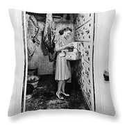Cold Storage Room, C1940 Throw Pillow