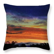 Cold Sunrise Throw Pillow