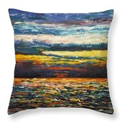 Cold Sunset Throw Pillow