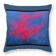 Cold Sunset Throw Pillow