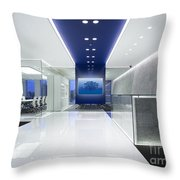 Cold Tree In A Field Of Blue Interior Design Throw Pillow