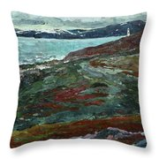 Cold Tundra Throw Pillow