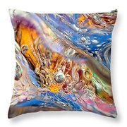 Cold Wave Throw Pillow