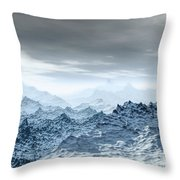 Cold Weather Environment Throw Pillow