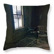 Cold Window Light Throw Pillow