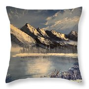 Cold Winter Lake Throw Pillow