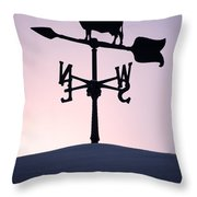 Cold Winter Sky Throw Pillow