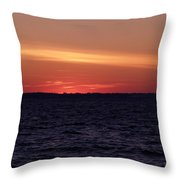 Cold Winter Sunset 1 Throw Pillow