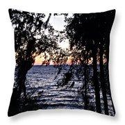 Cold Winter Sunset Throw Pillow