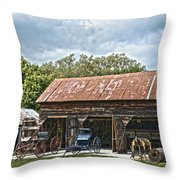 Coldwater Vintage Carriage House Throw Pillow