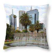 Coles Fountain Throw Pillow