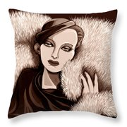 Colette In Sepia Tone Throw Pillow