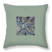 Coleus Leaves Throw Pillow