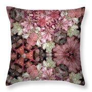 Coleus Patterns Throw Pillow
