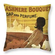 Colgate Cashmere Bouquet Advertising Poster Throw Pillow