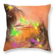 Colibries Throw Pillow