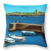 Coliemore Harbour, Dalkey Throw Pillow