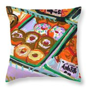 Coligny Donuts Throw Pillow