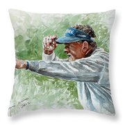 Colin Montgomery Watercolor Throw Pillow
