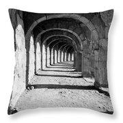Coliseum Corridor Throw Pillow