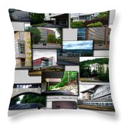 Collage Ithaca College Ithaca New York Vertical Throw Pillow
