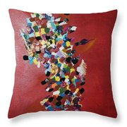 Collage Of Color Throw Pillow
