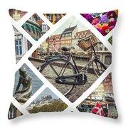 Collage Of Copenhagen  Throw Pillow