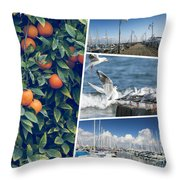Collage Of Cyprus Images Throw Pillow