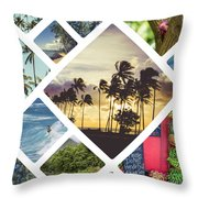 Collage Of Hawaii  Throw Pillow