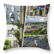 Collage Of Luxembourg Images Throw Pillow