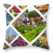 Collage Of Madeira  Throw Pillow