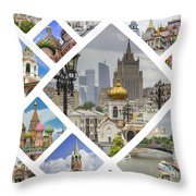 Collage Of Moscow Throw Pillow