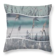 Collage Of Winter Time In Poland. Throw Pillow