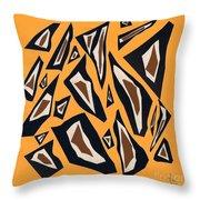 Collage Yellow Black Brown Throw Pillow