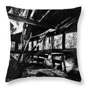 Collapsed Roof Throw Pillow