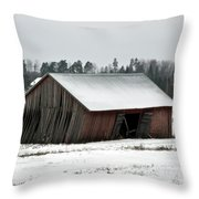 Collapsing Barn Throw Pillow