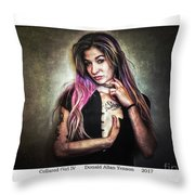 Collared Girl Iv Throw Pillow