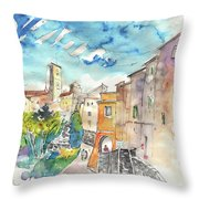 Colle D Val D Elsa In Italy 02 Throw Pillow