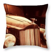 Collecting Dust In The Garage Throw Pillow
