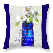 Collecting Tears - Verse Throw Pillow
