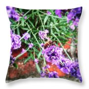 Collecting The Honey Throw Pillow