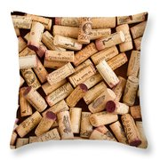 Collection Of Corks Throw Pillow
