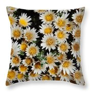 Collective Flowers Throw Pillow